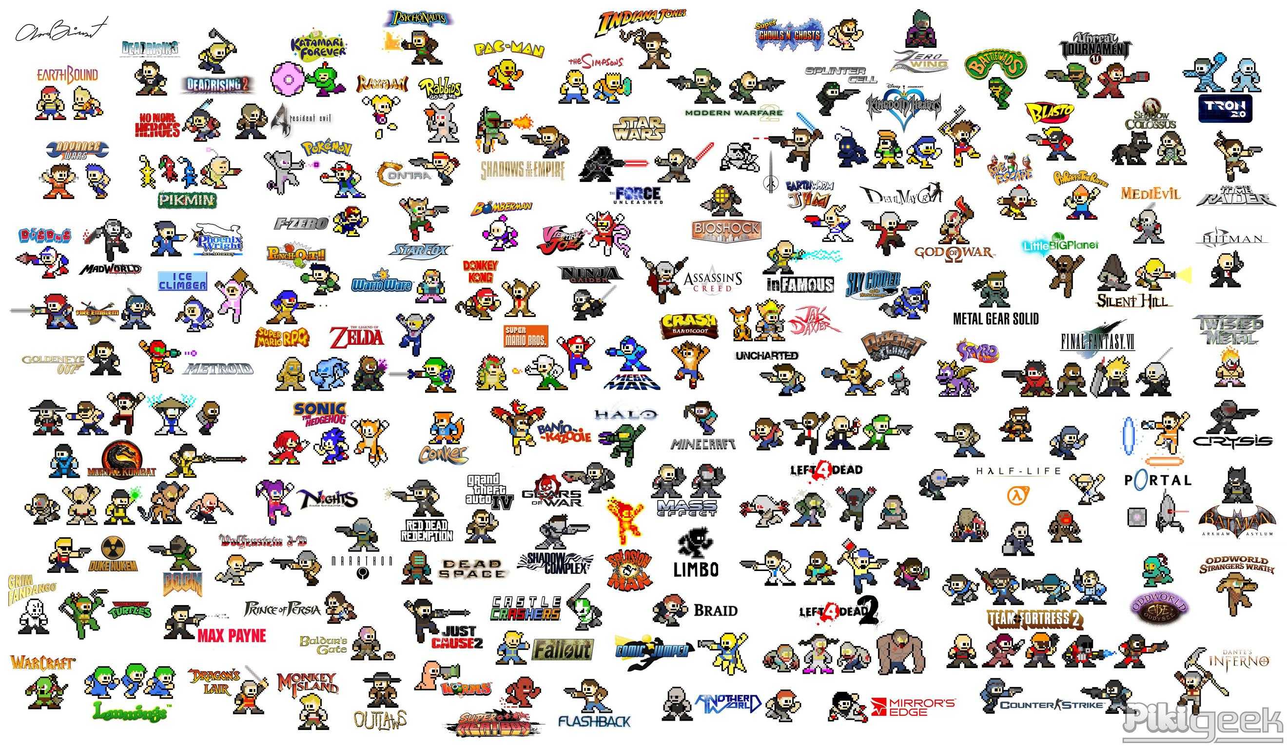 Video game characters as mega man sprites gaming for The book of life characters names